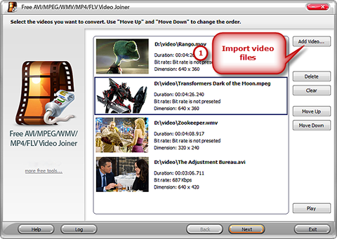 Import Video Files