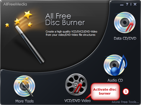 Activate the DVD-Video Burner